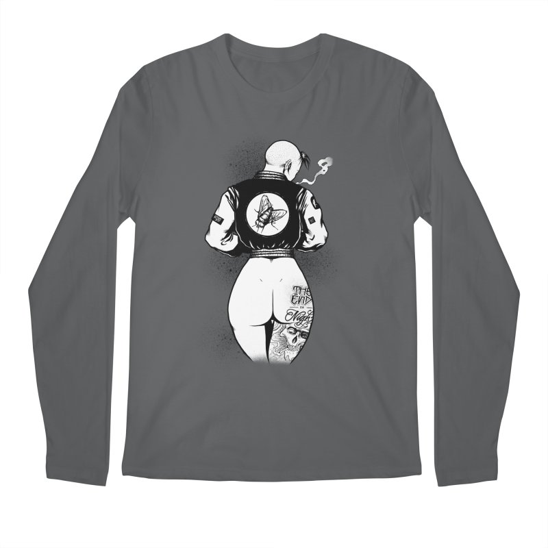 Punk Fly Grrl Men's Longsleeve T-Shirt by Black Fly Press Official Merchandise