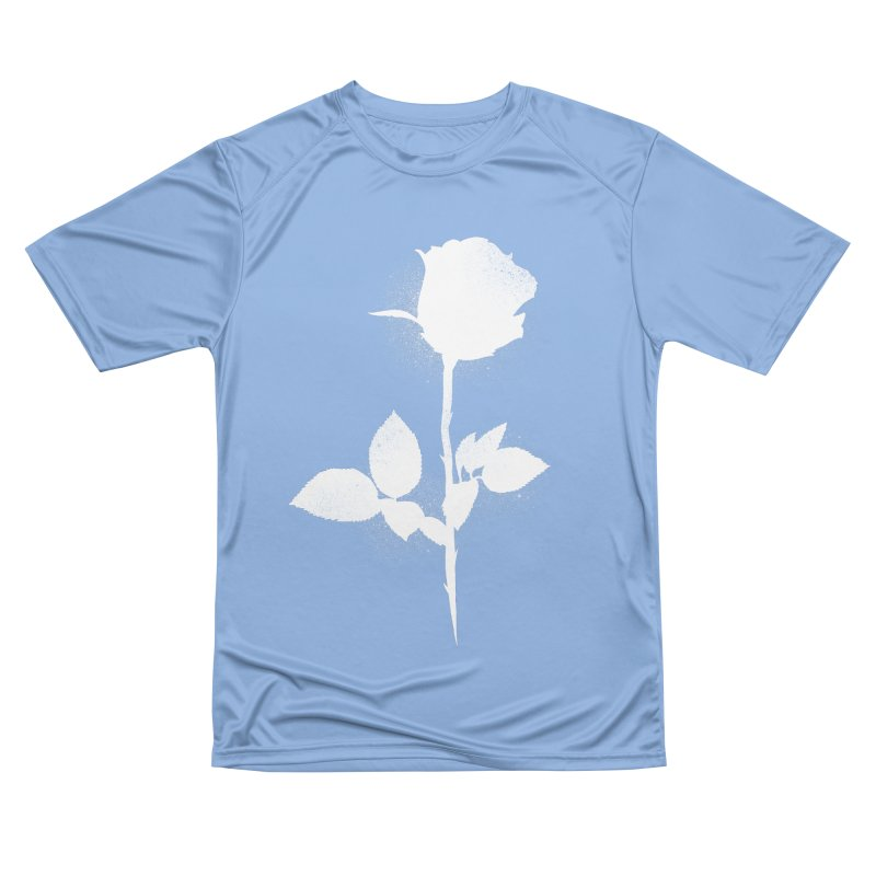 Rose (White) Men's T-Shirt by Black Fly Press Official Merchandise