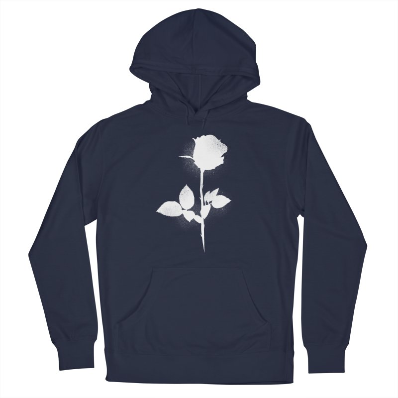 Rose (White) Men's Pullover Hoody by Black Fly Press Official Merchandise