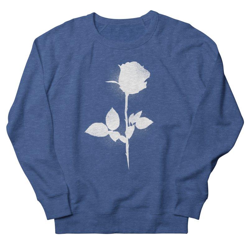 Rose (White) Men's Sweatshirt by Black Fly Press Official Merchandise