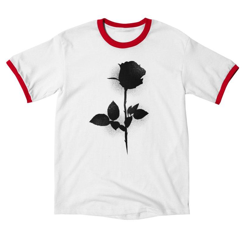 Rose (Black) Men's T-Shirt by Black Fly Press Official Merchandise