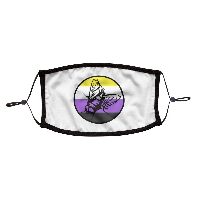 Black Fly Press Logo (Non-Binary) Accessories Face Mask by Black Fly Press Official Merchandise