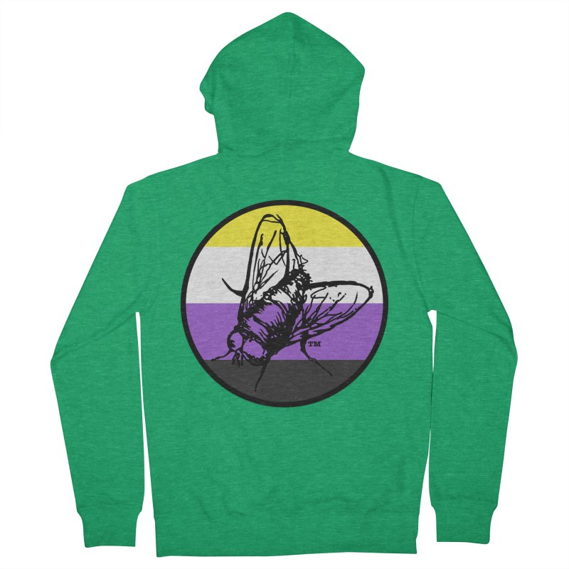 Black Fly Press Logo (Non-Binary) Men's Zip-Up Hoody by Black Fly Press Official Merchandise
