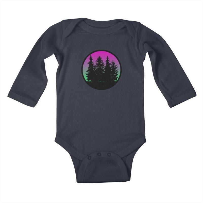 Neon Forest Kids Baby Longsleeve Bodysuit by Black Market Designs