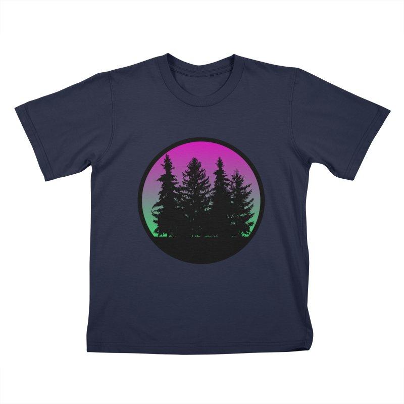 Neon Forest Kids T-Shirt by Black Market Designs