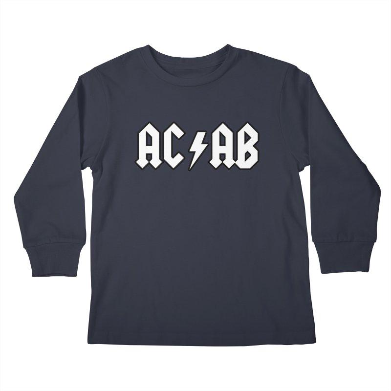 ACAB Kids Longsleeve T-Shirt by Black Market Designs