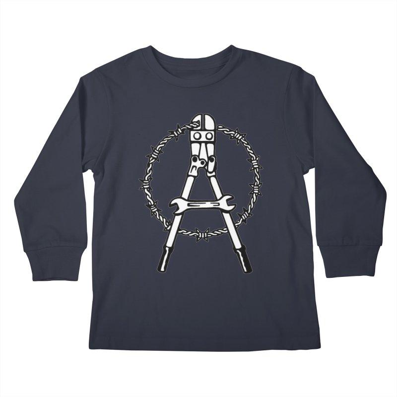 Saboteur Kids Longsleeve T-Shirt by Black Market Designs