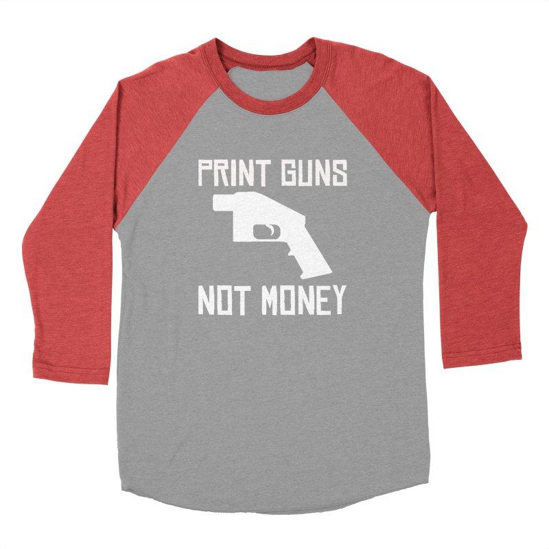 Print Guns Not Money Men's Longsleeve T-Shirt by Black Market Designs