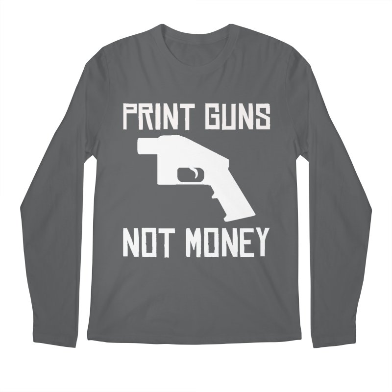 Print Guns Not Money Men's Longsleeve T-Shirt by Black Market Designs