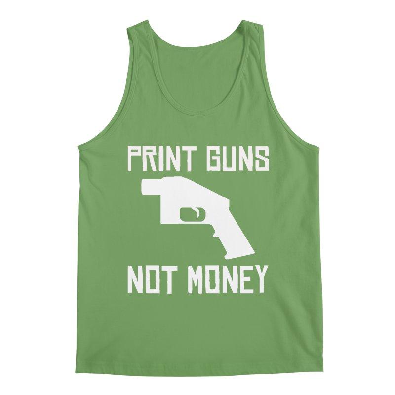 Print Guns Not Money Men's Tank by Black Market Designs
