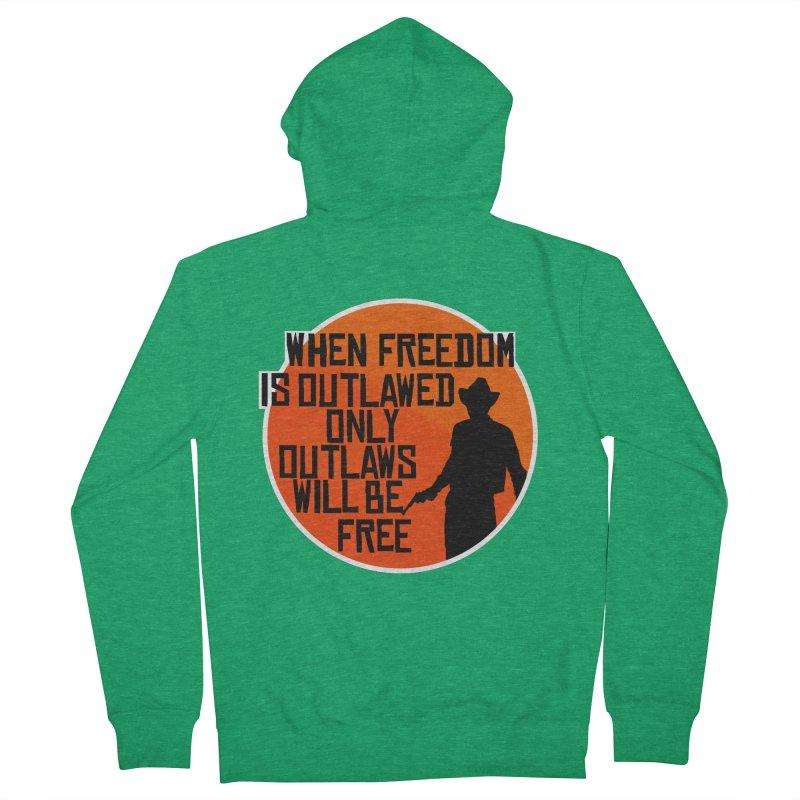 Outlaws Men's Zip-Up Hoody by Black Market Designs