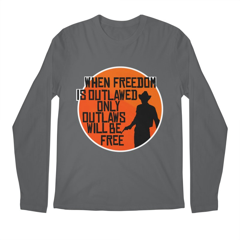 Outlaws Men's Longsleeve T-Shirt by Black Market Designs