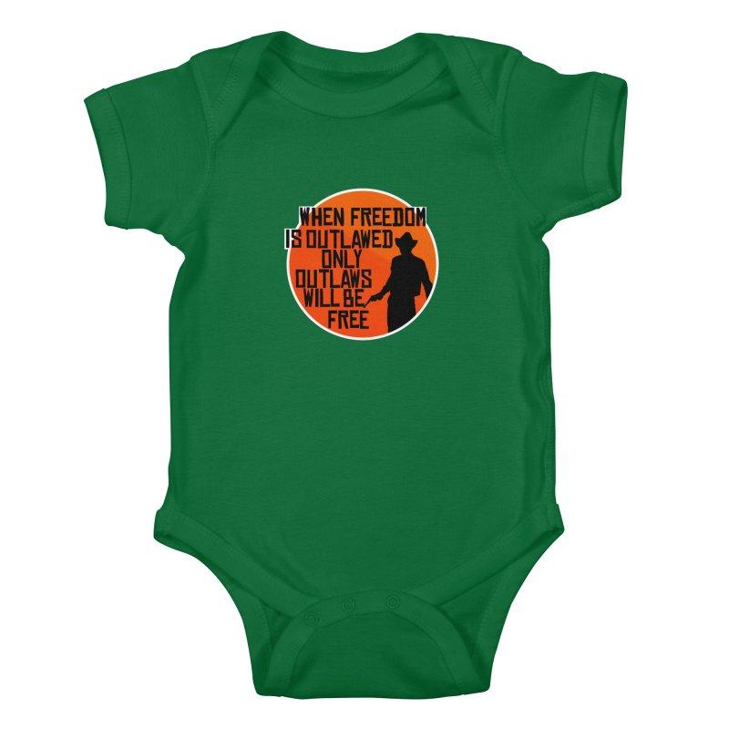 Outlaws Kids Baby Bodysuit by Black Market Designs