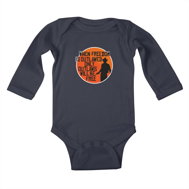 Outlaws Kids Baby Longsleeve Bodysuit by Black Market Designs