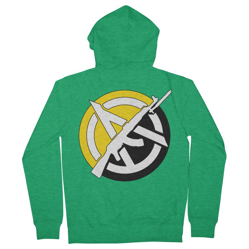 Ancap Anarchy Men's Zip-Up Hoody by Black Market Designs