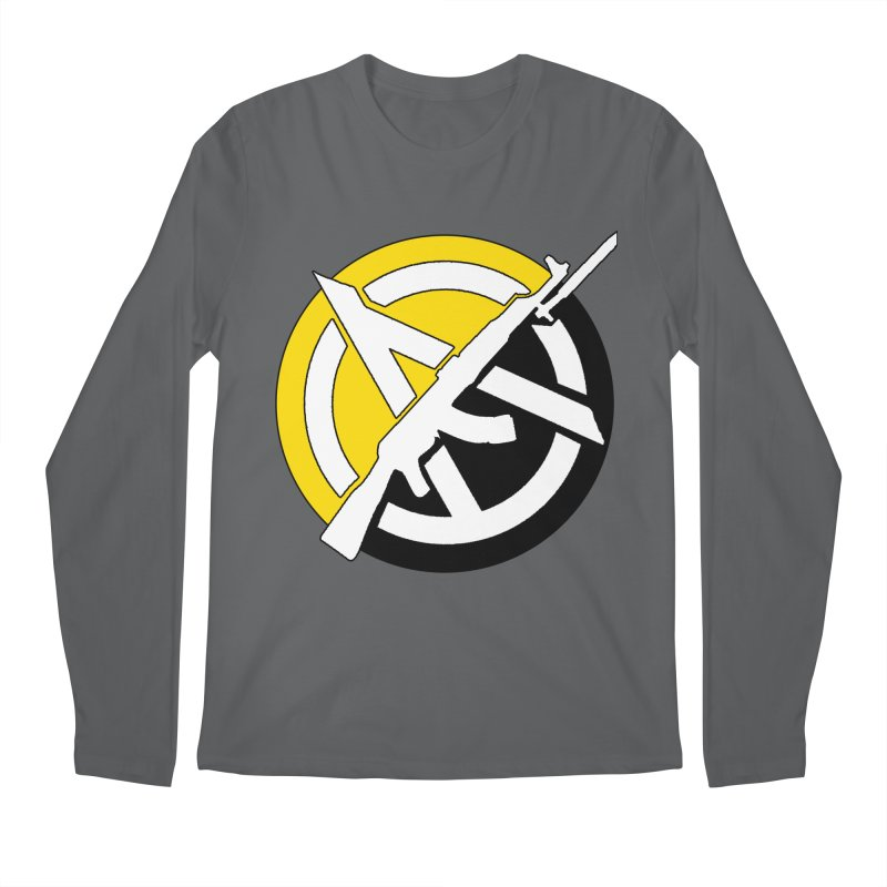 Ancap Anarchy Men's Longsleeve T-Shirt by Black Market Designs