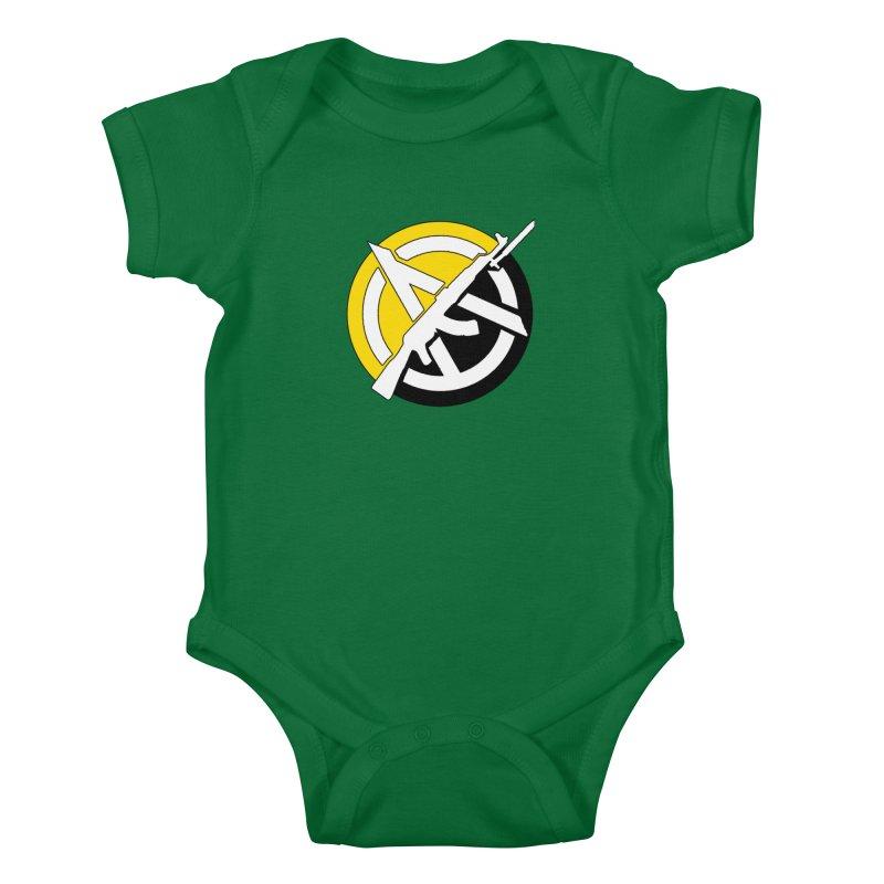 Ancap Anarchy Kids Baby Bodysuit by Black Market Designs