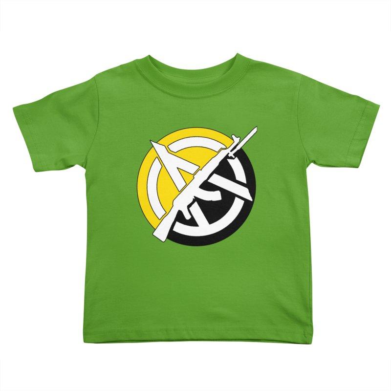 Ancap Anarchy Kids Toddler T-Shirt by Black Market Designs