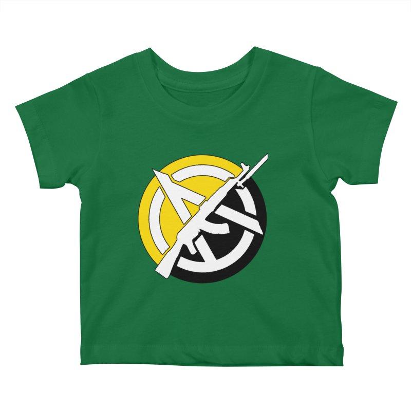 Ancap Anarchy Kids Baby T-Shirt by Black Market Designs