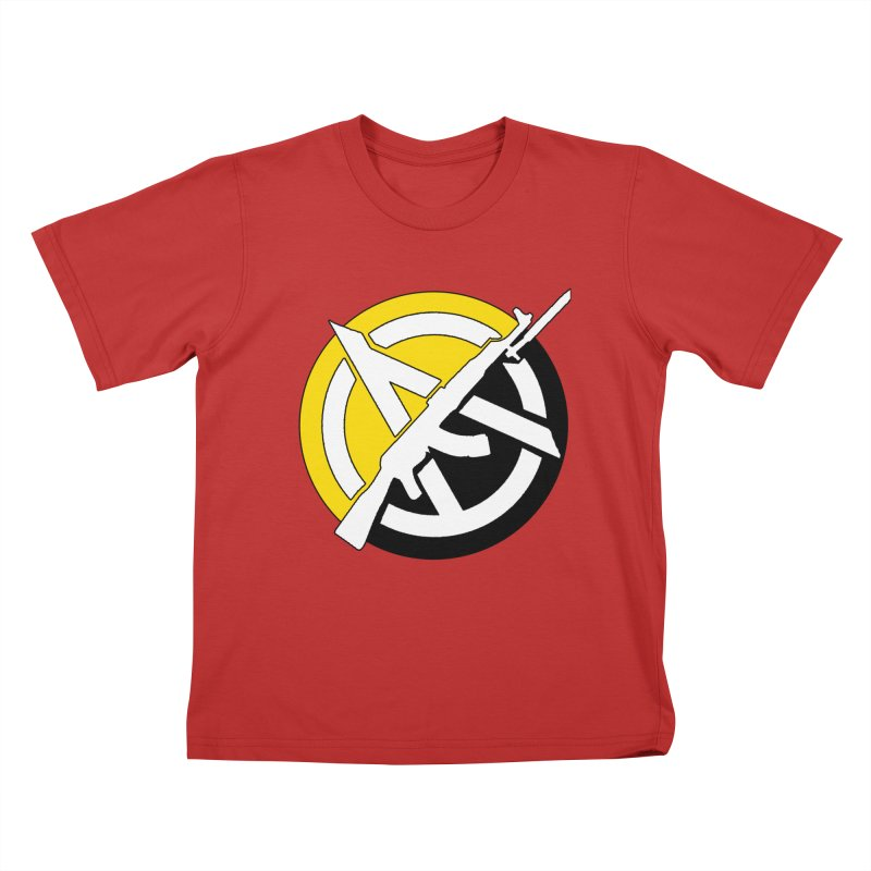 Ancap Anarchy Kids T-Shirt by Black Market Designs