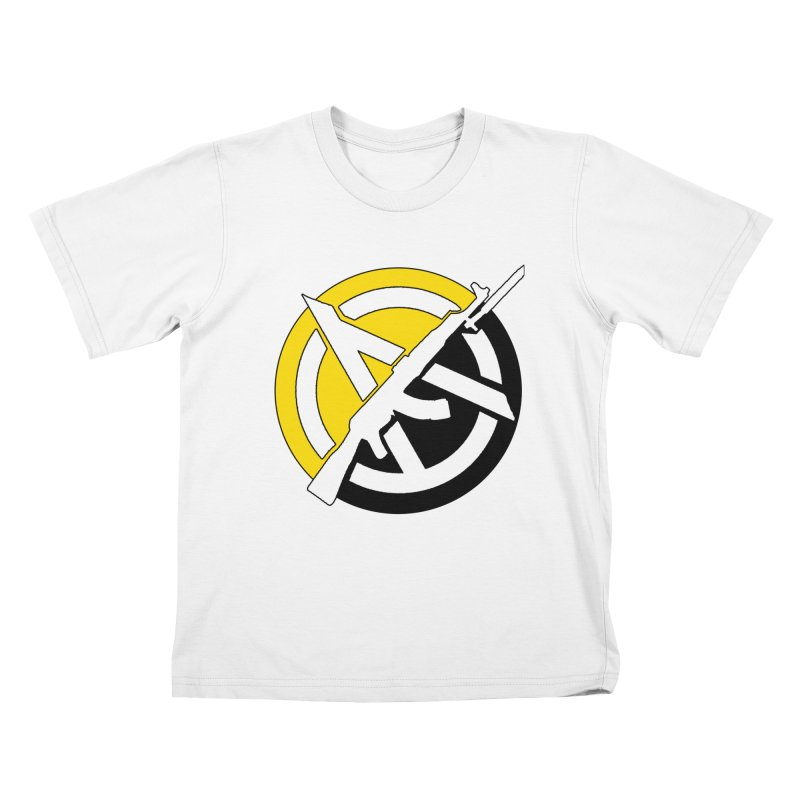 Ancap Anarchy Kids T-Shirt by Black Market Designs