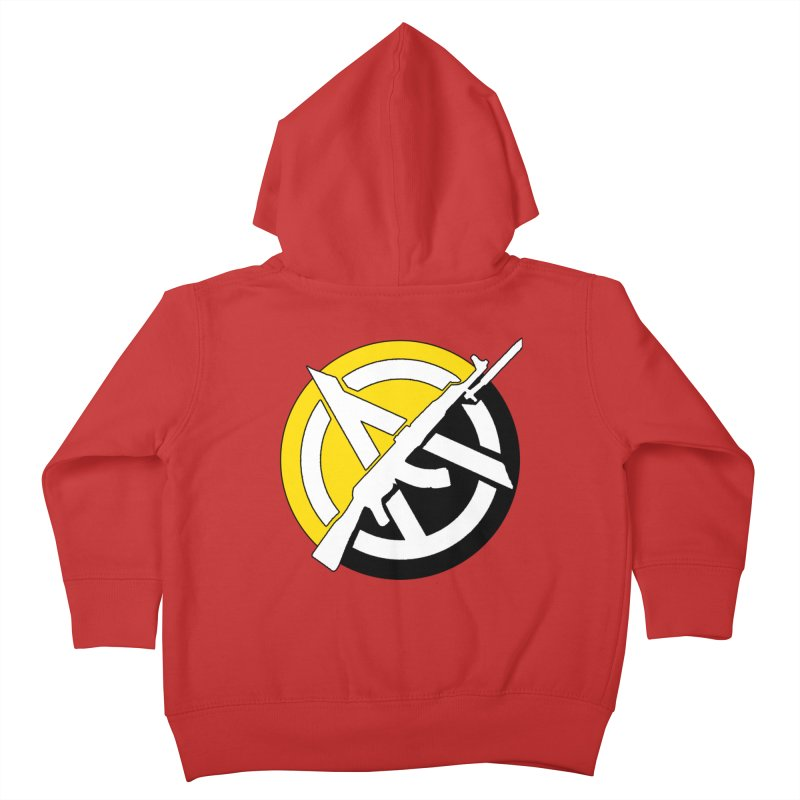 Ancap Anarchy Kids Toddler Zip-Up Hoody by Black Market Designs