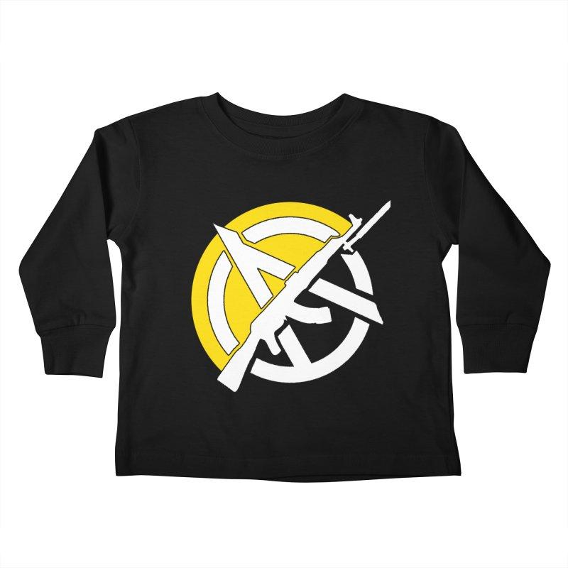 Ancap Anarchy Kids Toddler Longsleeve T-Shirt by Black Market Designs