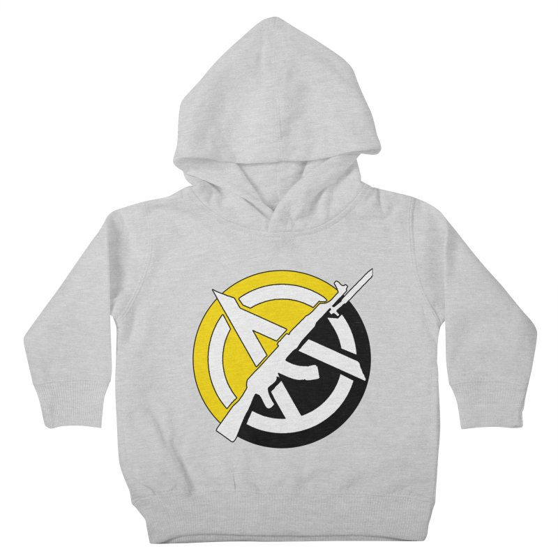 Ancap Anarchy Kids Toddler Pullover Hoody by Black Market Designs