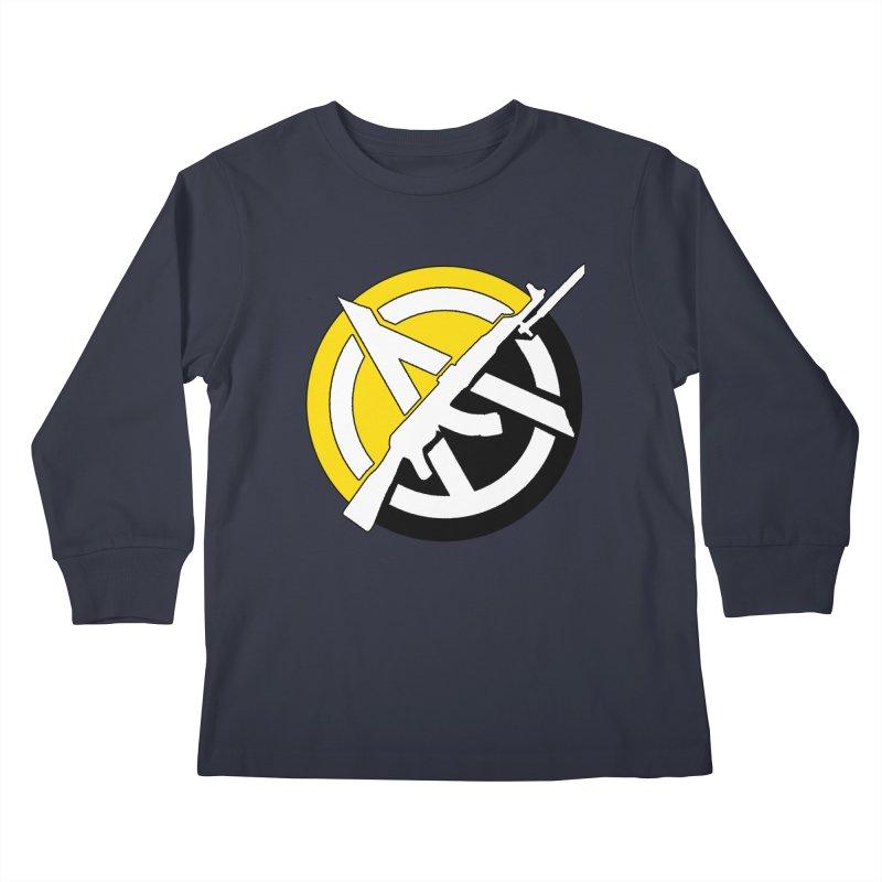 Ancap Anarchy Kids Longsleeve T-Shirt by Black Market Designs
