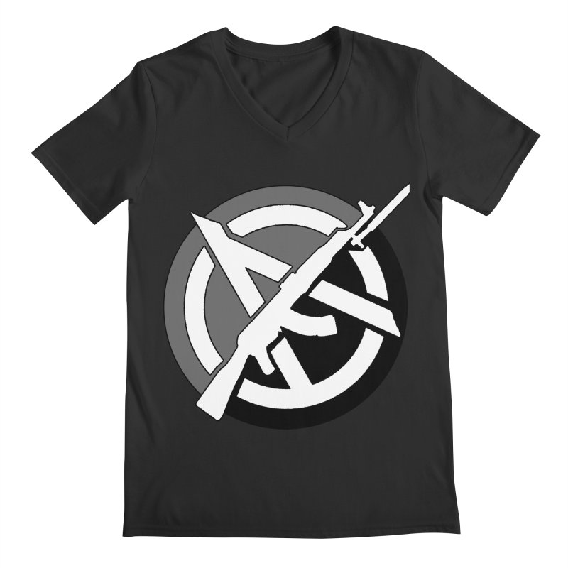 Agorist Anarchy Men's V-Neck by Black Market Designs