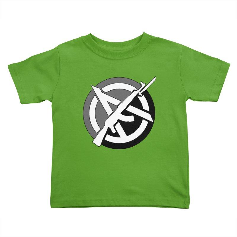 Agorist Anarchy Kids Toddler T-Shirt by Black Market Designs