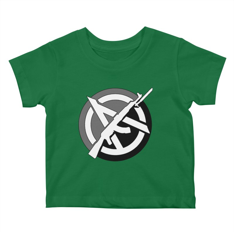 Agorist Anarchy Kids Baby T-Shirt by Black Market Designs