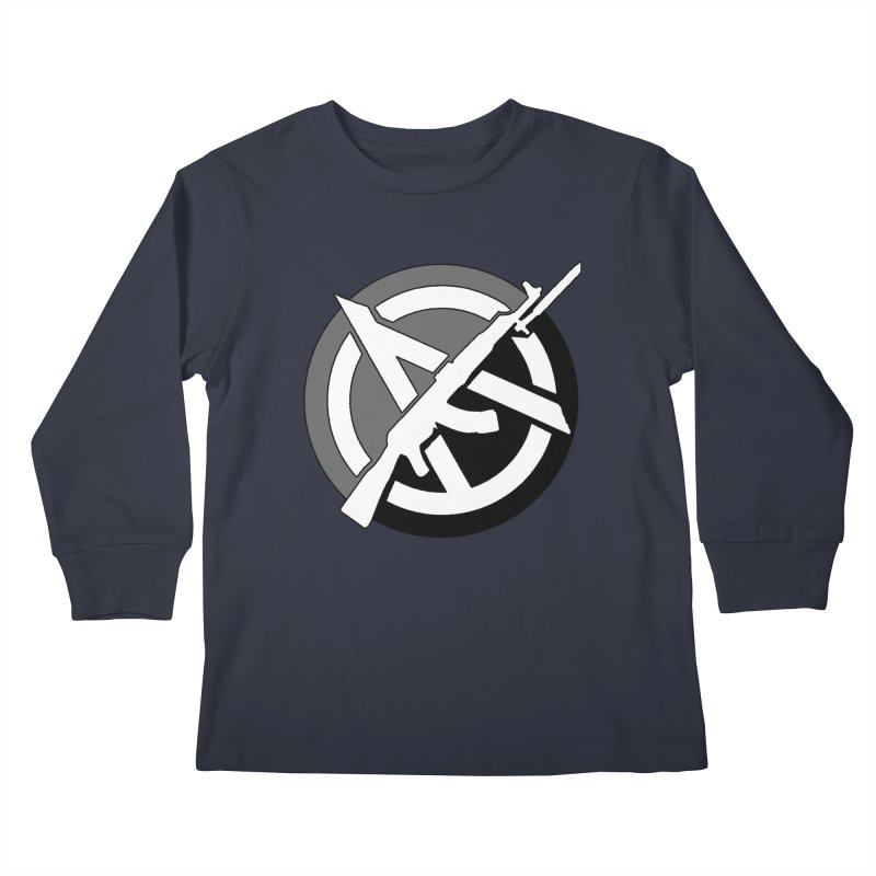 Agorist Anarchy Kids Longsleeve T-Shirt by Black Market Designs