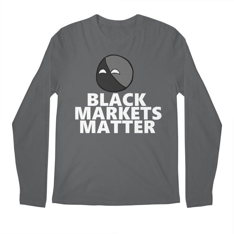 Black Markets Matter Agoristball Men's Longsleeve T-Shirt by Black Market Designs