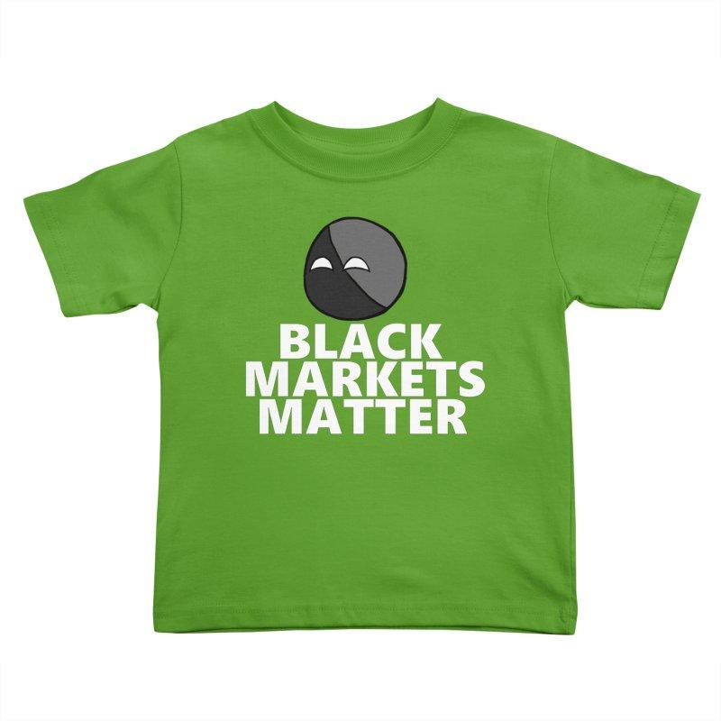 Black Markets Matter Agoristball Kids Toddler T-Shirt by Black Market Designs