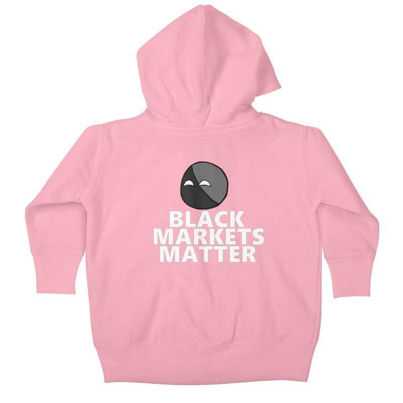 Black Markets Matter Agoristball Kids Baby Zip-Up Hoody by Black Market Designs