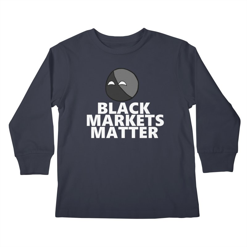 Black Markets Matter Agoristball Kids Longsleeve T-Shirt by Black Market Designs