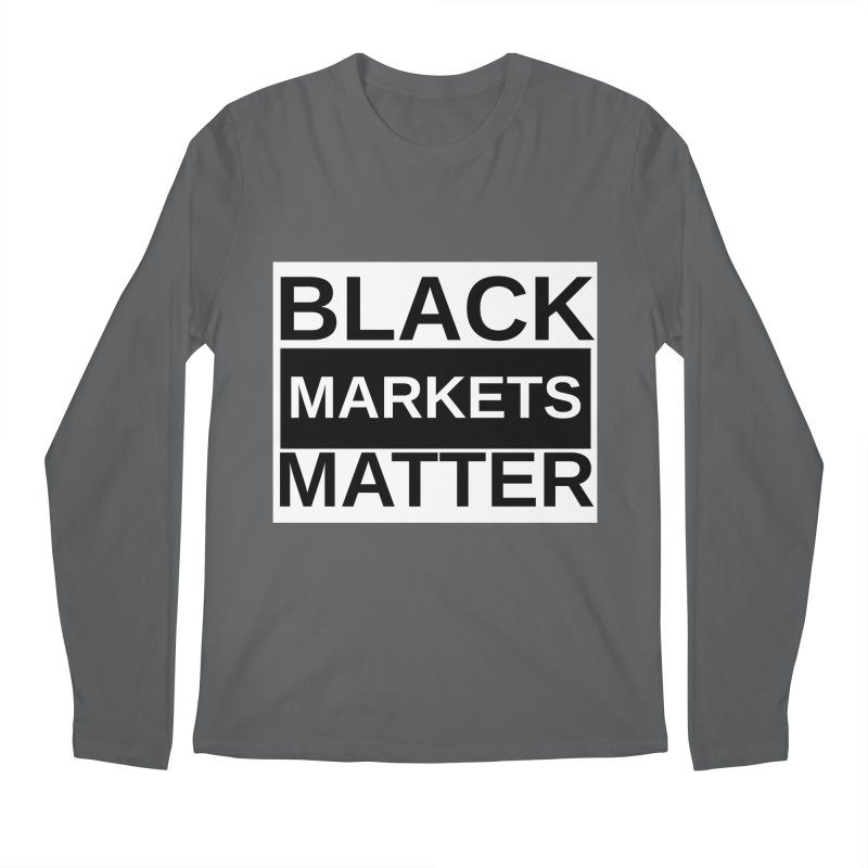 Black Markets Matter Men's Longsleeve T-Shirt by Black Market Designs