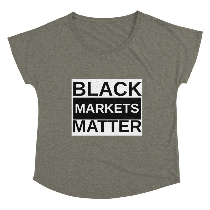 Black Markets Matter Women's Scoop Neck by Black Market Designs