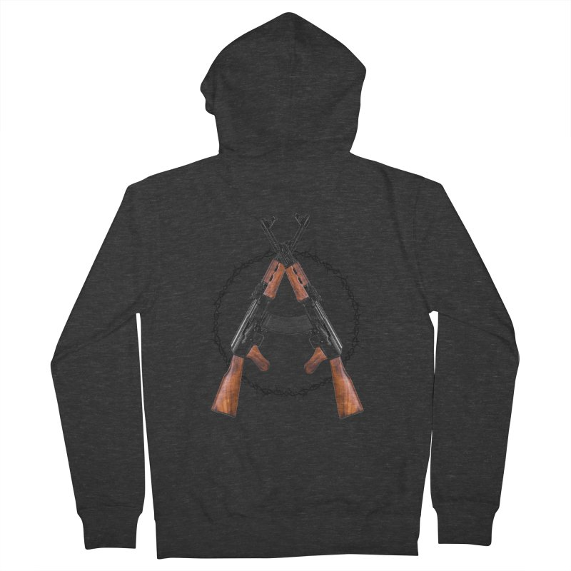 Anarchy AK Men's Zip-Up Hoody by Black Market Designs