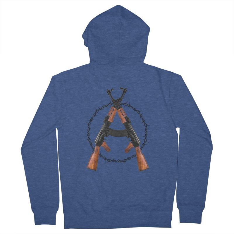Anarchy AK Men's Zip-Up Hoody by Black Market Designs