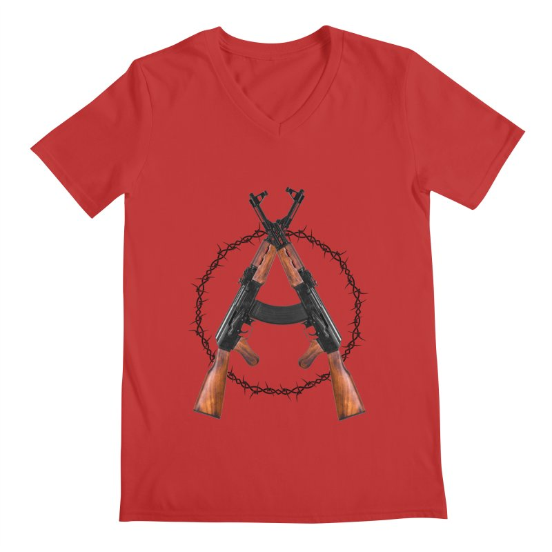 Anarchy AK Men's V-Neck by Black Market Designs