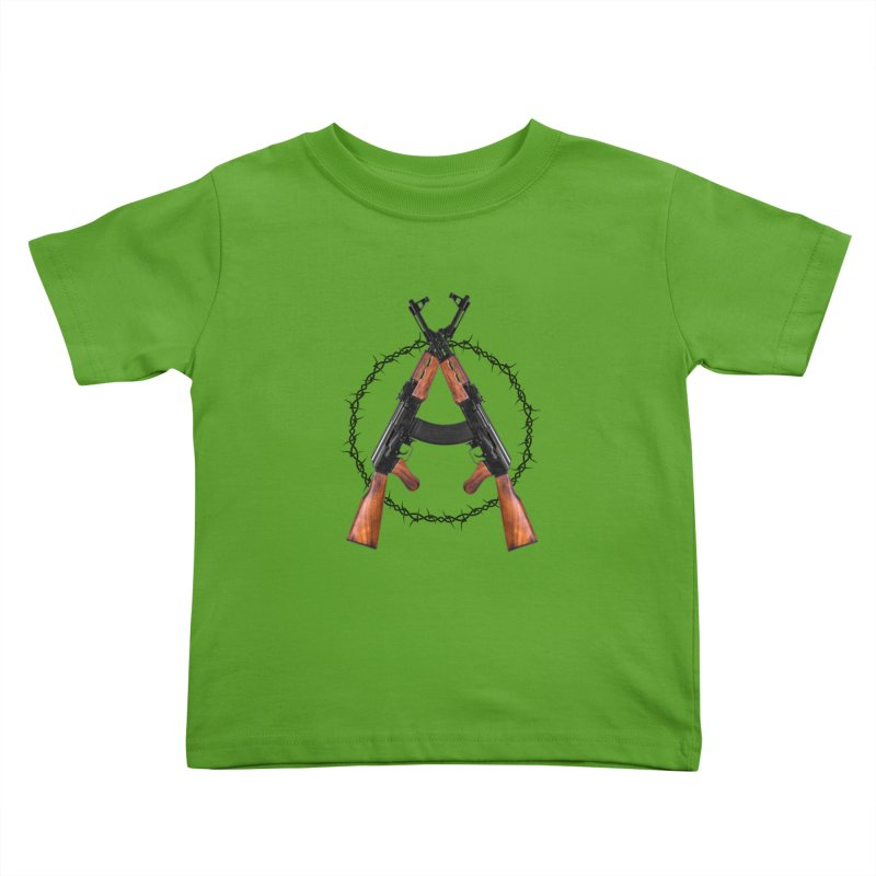 Anarchy AK Kids Toddler T-Shirt by Black Market Designs