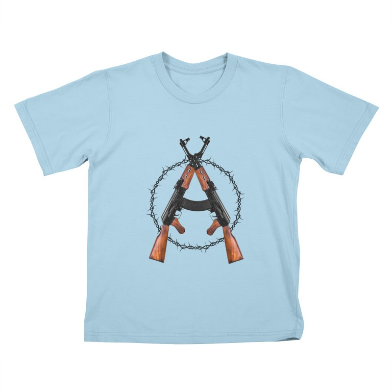 Anarchy AK Kids T-Shirt by Black Market Designs