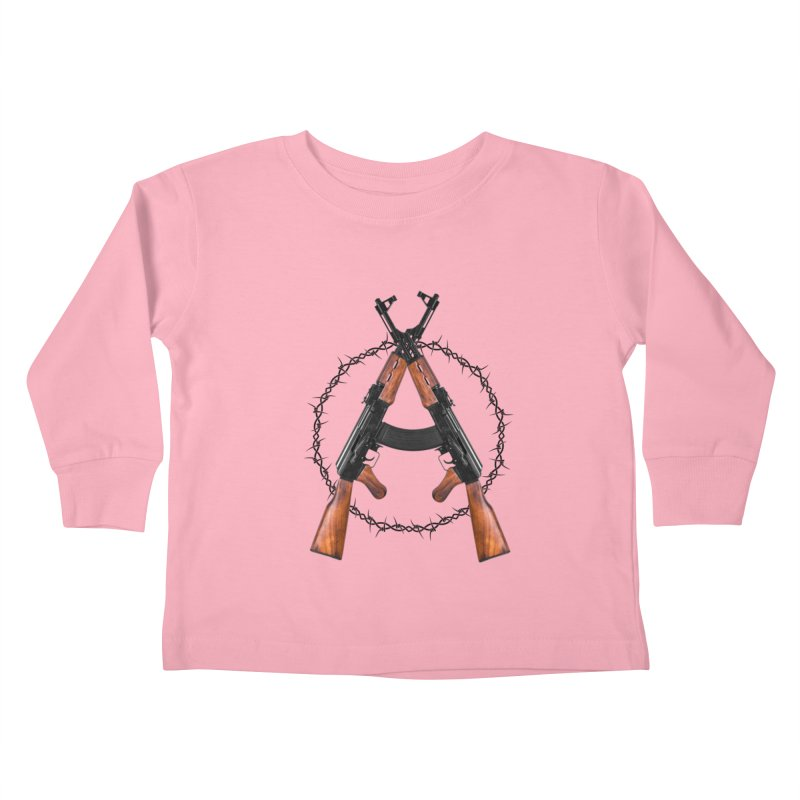 Anarchy AK Kids Toddler Longsleeve T-Shirt by Black Market Designs