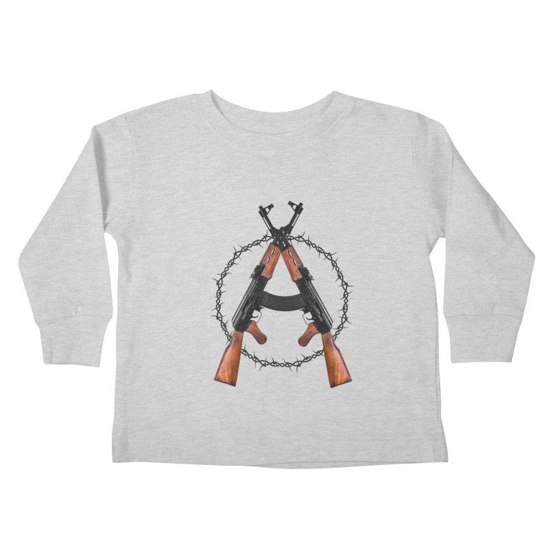 Anarchy AK Kids Toddler Longsleeve T-Shirt by Black Market Designs