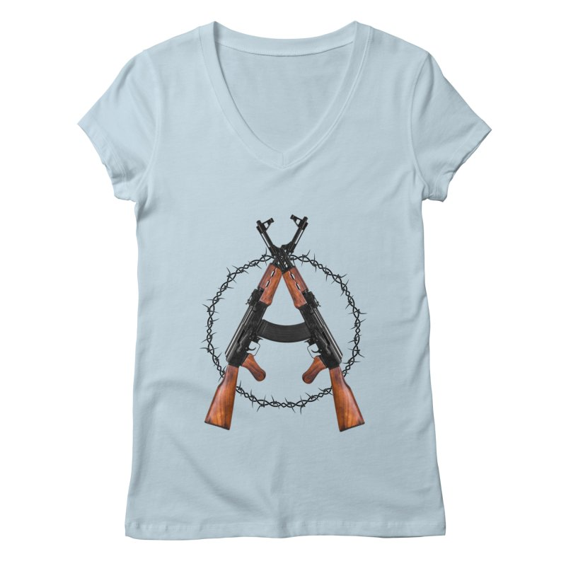 Anarchy AK Women's V-Neck by Black Market Designs