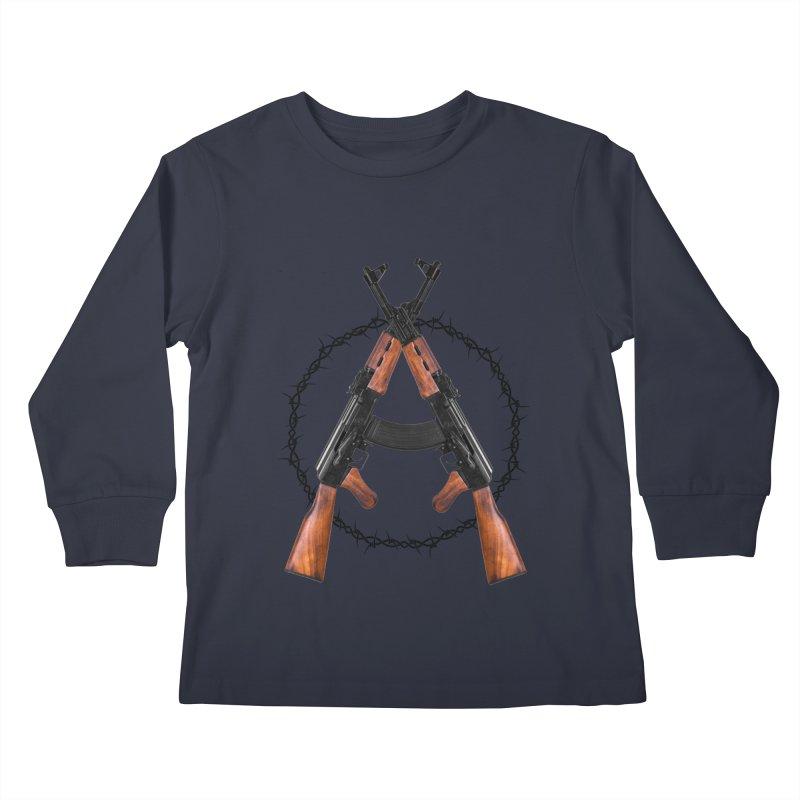 Anarchy AK Kids Longsleeve T-Shirt by Black Market Designs