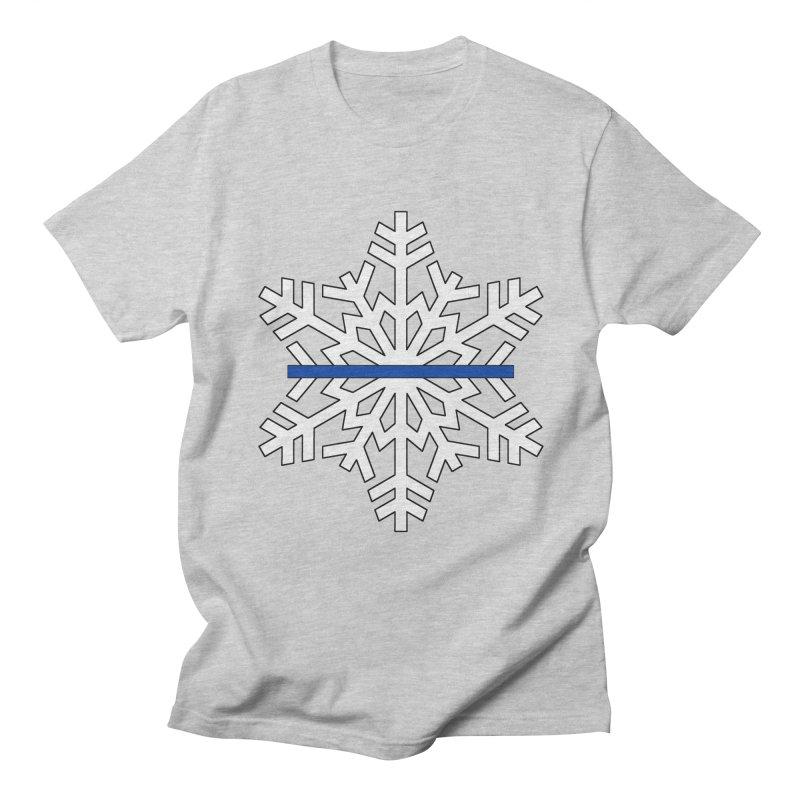 Blue Snowflake Men's T-Shirt by Black Market Designs