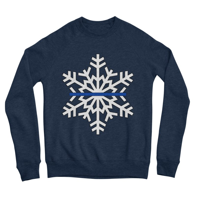 Blue Snowflake Men's Sweatshirt by Black Market Designs